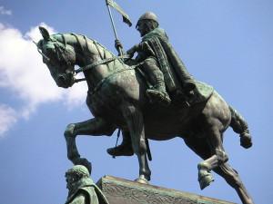 Sv. Václav na koni na Václavském náměstí